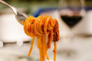 Amatriciana sauce and spaghetti alla amatriciana with thermomix