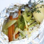 Recipe of vegetable papillote in the Thermomix