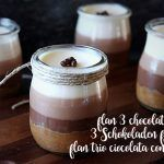 Flan 3 chocolates with Thermomix
