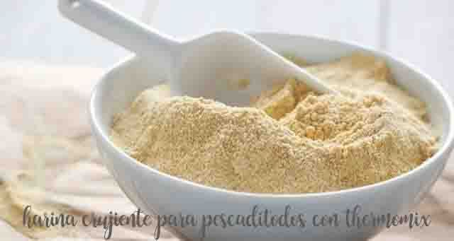 Trick: Special flour with thermomix to fry crunchy fish