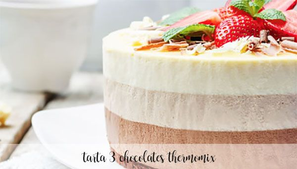 three chocolates cake with Thermomix