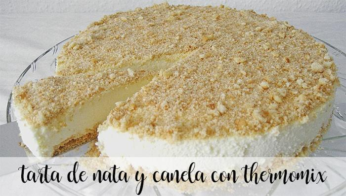 Cream and cinnamon cake with Thermomix