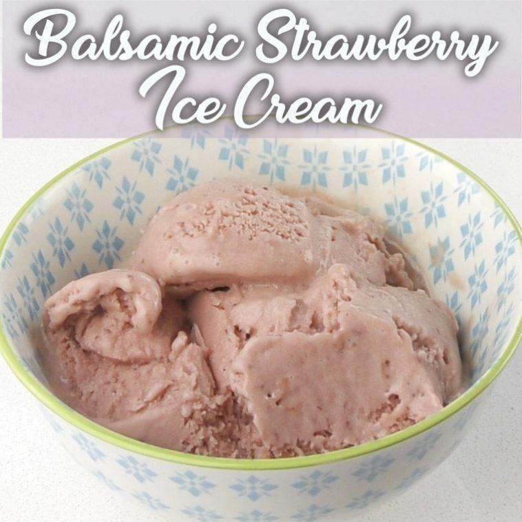 Balsamic strawberry ice cream with Thermomix