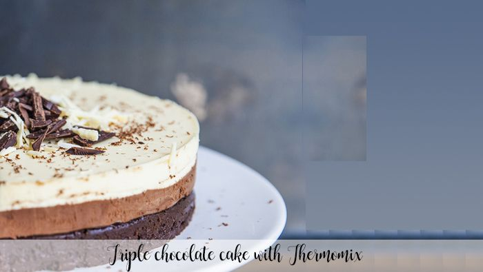 Triple chocolate cake with Thermomix