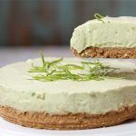 Avocado and lemon cheesecake