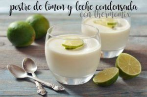Lemon and condensed milk dessert with thermomix