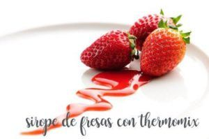 How to prepare strawberry syrup with the Thermomix
