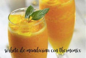 Tangerine sorbet with thermomix