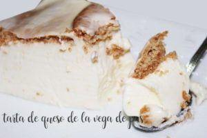 Cheesecake from the vega de pas with thermomix