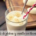 Frozen Smoothie of Banana and Vanilla with thermomix