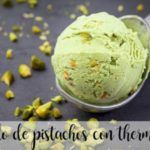 Pistachio ice cream with thermomix