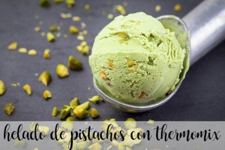 Pistachio ice cream with thermomix