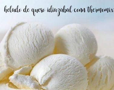 Idiazabal cheese ice cream with thermomix