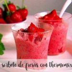 Strawberry sorbet with thermomix