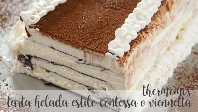 Frozen cake style contessa or viennetta with thermomix