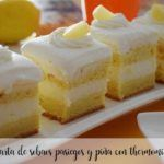 Sobaos pasiegos and pineapple pie with the thermomix