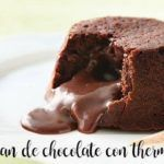 Chocolate volcano with thermomix