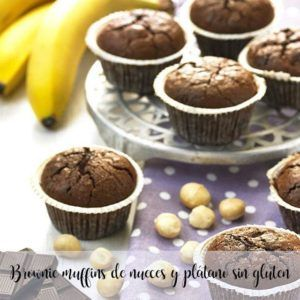 Brownie gluten-free walnut and banana muffins with thermomix