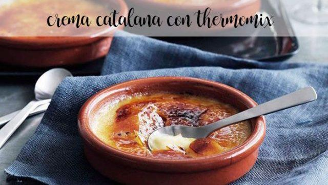 Catalan cream with thermomix