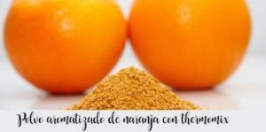 Flavored orange powder with thermomix