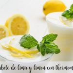 Lime and lemon sorbet with the Thermomix
