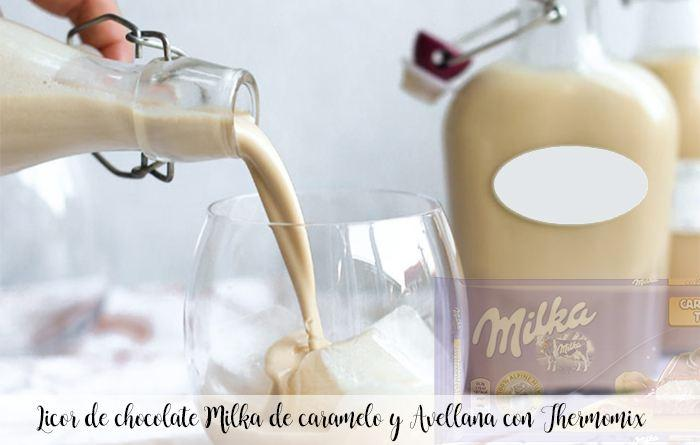 Milka chocolate liquor with caramel and hazelnut with Thermomix