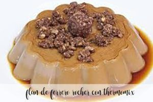 Ferrero Rocher flan with thermomix
