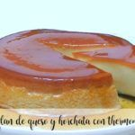 Cheese and horchata flan with Thermomix