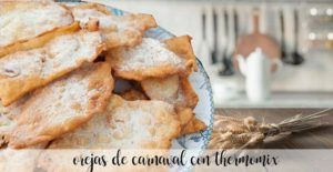 Carnival ears (fried sugary dough) with thermomix