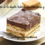 Chocolate and biscuit grandmother's cake with thermomix