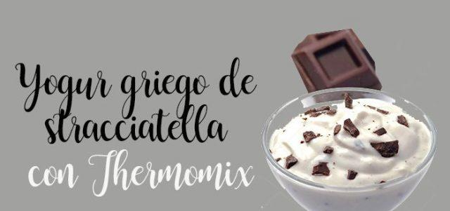 Greek yogurt from stracciatella Thermomix