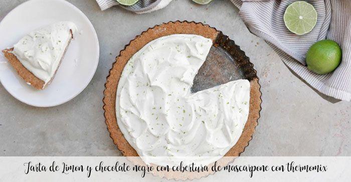 Cytrynowo-gorzkie ciasto czekoladowe z mascarpone z thermomixem