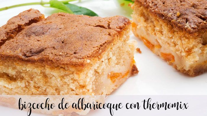 Apricot sponge cake with Thermomix