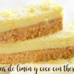 Lemon and coconut bars with thermomix