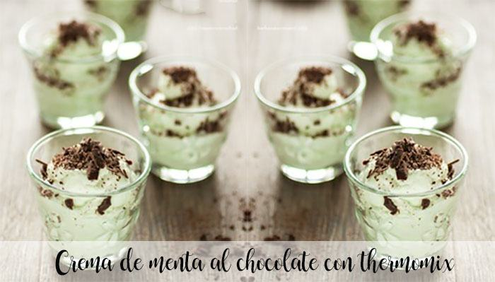 Chocolate mint cream with thermomix