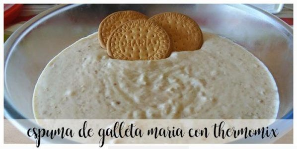 Foam Maria Biscuit with Thermomix