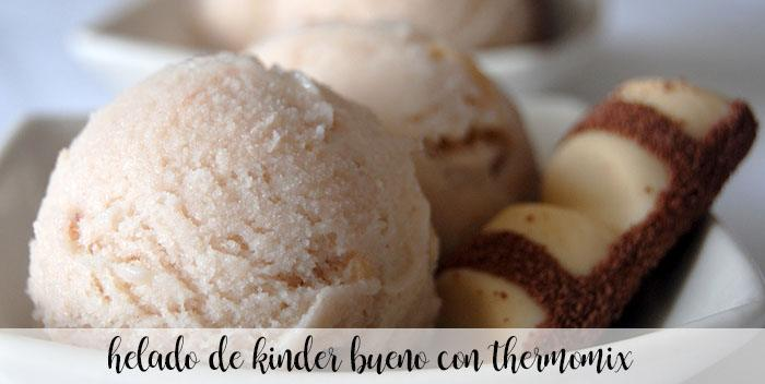 Kinder Bueno ice cream with thermomix