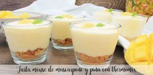 Mascarpone and pineapple mouse cake with thermomix