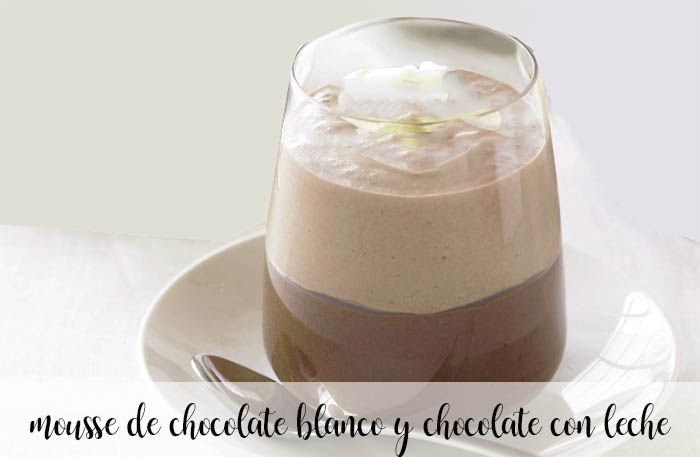 White chocolate and milk chocolate mousse with thermomix