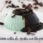 Chocolate Mint Panna Cotta with Thermomix