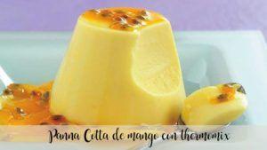 Mango panna Cotta with thermomix