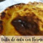 Cream pie with thermomix