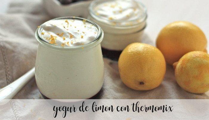 Lemon yogurt with thermomix