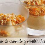 Caramel and vanilla mousse with Thermomix