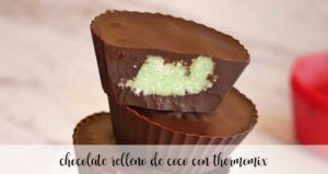 Coconut filled chocolate with Thermomix