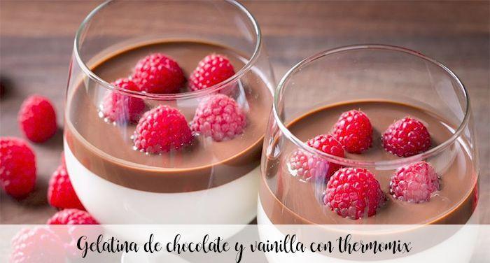 Galaretka czekoladowo-waniliowa z thermomixem