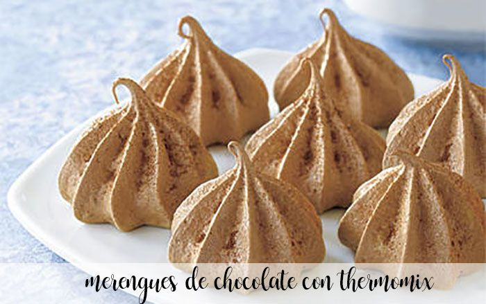 Chocolate meringues with Thermomix