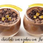 Chocolate Mousse with orange blossom with Thermomix