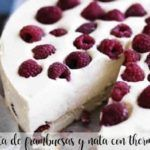Raspberry pie and cream with thermomix