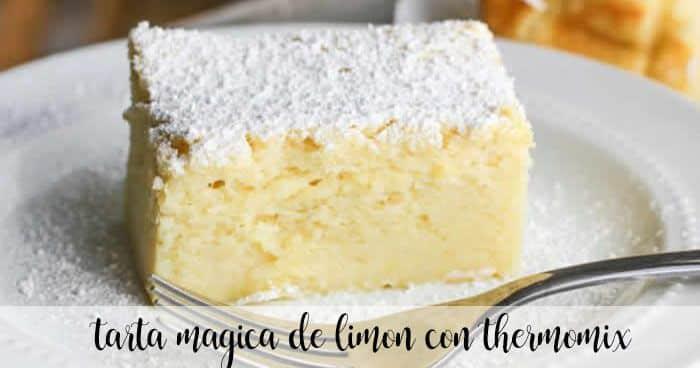 Magic lemon cake with thermomix